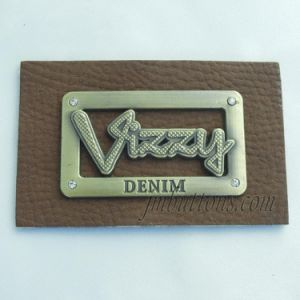 Polishing Logo Custom Types PU Labels for Jeans pictures & photos