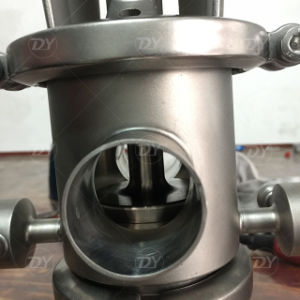50.8mm T22 Stainless Steel SS304 Sanitary Mixing Proof Valve with C-Top pictures & photos