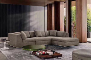 Modern Home Living Room Furniture Large Corner Fabric Sofa (HC566) pictures & photos