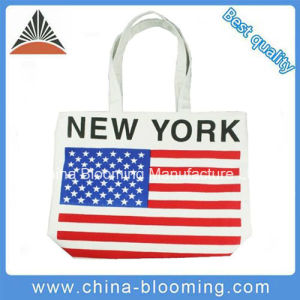 Ladies Handbags Canvas Shopping Carrier Packing Promotion Bag pictures & photos