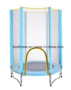 Kids Indoor Round Springless Trampoline with Enclosure for Sale pictures & photos