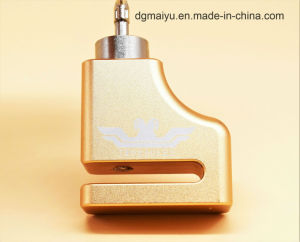 Twoeagles Golden Small Alarm Bicycle Disc Key System Lock pictures & photos