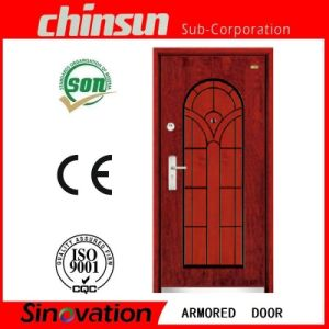 Hot Selling Steel Wooden Armored Door pictures & photos
