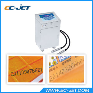 Date Printing Machine Dual-Head Continuous Inkjet Printer for Egg (EC-JET910) pictures & photos