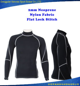 2mm Neoprene Men Nylon Fabric Long Sleeve Surfing Wetsuit pictures & photos
