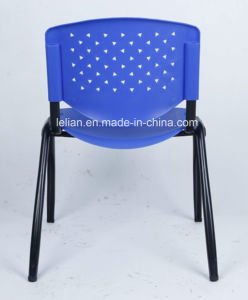 Flash Furniture Pound Black Polypropylene Stack Chair with Titanium Frame, Gray (LL-0005) pictures & photos