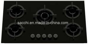 5 Burner Tempered Glass Gas Hob pictures & photos