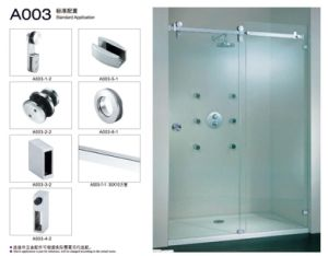 Shower Sliding Hanging Wheel Roller Door Set Stainless Steel Glass Door Hinge pictures & photos
