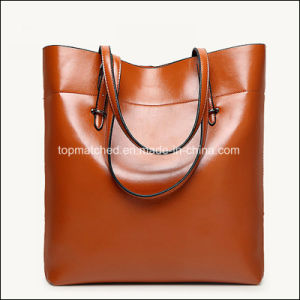 2017 Fashion Branded Hand Bag, Custom Large Tote Bag Leather Bags Woman Designer Lady Hand Bag pictures & photos