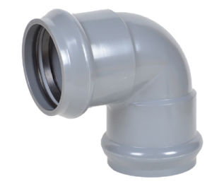 Plastic Pipe Fitting 90 Deg Elbow with Gasket pictures & photos