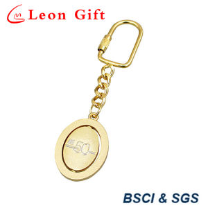 Top Quality Cut out Design Gold/Silver Rotatable Keychain pictures & photos