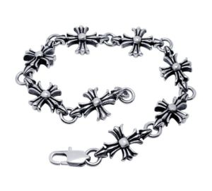 Gothic & Punk & Rock Style Men Stainless Steel Body Jewelry Classic Cross Bracelets pictures & photos