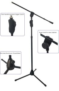 Heavy Duty Die Cast Aluminum Tripod Base Microphone Stand (TMC405) pictures & photos