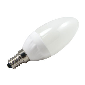 SMD2835 Plastic 3W E14 LED Candle Bulb 100-265V AC with Ce RoHS pictures & photos