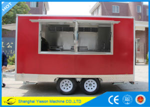 Ys-Fv390b 3.9m Red High Quality Sandwich Panel Hot Dog Cart Catering Vans for Sale pictures & photos