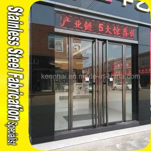 Golden Luxury Exterior Metal Stainless Steel Swing Security Glass Entry Door pictures & photos