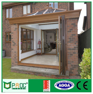 Luxury Australian Standard Bi Fold Door with Tempered Glass Pnocbfd00001 pictures & photos