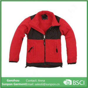 Kids Fleece Jackets Red Black pictures & photos