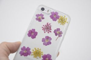 Lovely Real Dry Flower Soft TPU Cell Phone Case Cellular Case pictures & photos