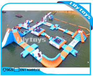 Lilytoys Hot Summer Inflatable Floating Water Park Giant Inflatable Aqua Fun Parkfor Adults