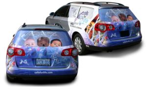Custom Design Waterproof Colorful Graphics Car Bumper Sticker pictures & photos