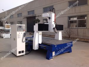 Rotating Spindle CNC Milling Machine 4th Axis Wood Engraver Price pictures & photos