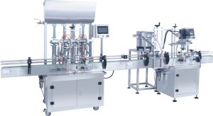 Duckbill Capper+4 Heads Paste Filler/Paste Filling Machine From China pictures & photos