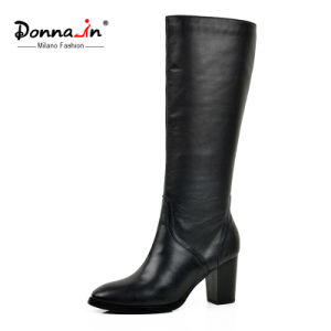 2017 Fashion Casual Lady Leather Shoes High Heels Women Boots