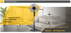 """Good Quality 16"""" High End Oscillating Pedestal Fan with Remote Control pictures & photos"""