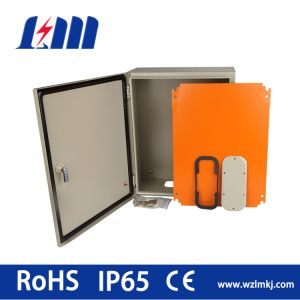 Two Lock, Orange Mounting Plate, Metal Enclosure