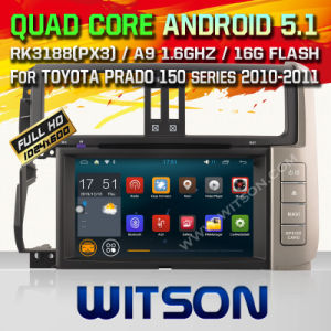 Witson Android 5.1 System Car DVD for Toyota Prado (W2-F9119T) pictures & photos