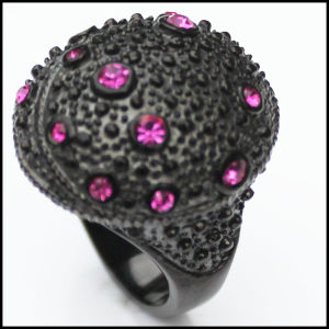 Fashion Black Purple Zircon Stainless Steel Rings pictures & photos