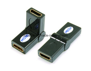 180 Degree Rotating HDMI Female to Female Adapter pictures & photos