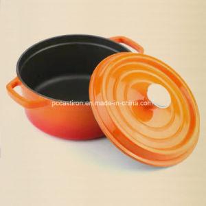 Dia 26cm Enamel Cast Iron Braising Casserole Pot Dutch Oven 5.5L pictures & photos