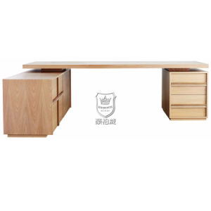 Australia Hotel Ash Wood Writing Desk and Credenza pictures & photos