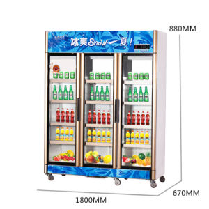 Upright Opening Door Beverage Refrigerator with Fan Cooling Circulation pictures & photos