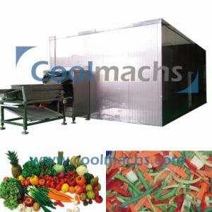 Okra IQF Quick Freezing Machine/Vegetable Fluidized IQF Freezer pictures & photos