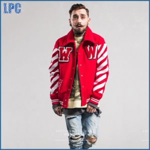Fashion Collars of Red Fleece Jacket pictures & photos
