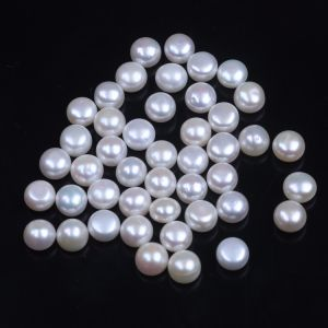 8-8.5mm Loose Button Pearls with Half-Drilled Hole pictures & photos