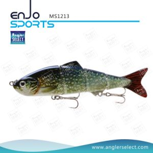 Multi Jointed Life-Like Fishing Lure Bass Bait Shallow Fishing Tackle Lure (MS1213) pictures & photos