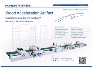 MDF/Plywood UV Coating Production Line with Ce