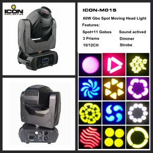 60W COB LED Moving Head Gobo Spot Stage Lighting pictures & photos