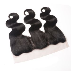 Lace Closure Frontal Three/Free/Middle Part Top Swiss Lace Closure Straight Brzilian Virgin Human Hair Frontal pictures & photos