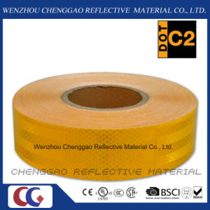 Custom Micro Prismatic Yellow Reflective Material Tape for Traffic (CG5700-OY) pictures & photos