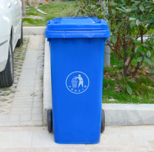 120 Liter HDPE Plastic Waste Bin with Wheel pictures & photos