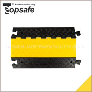 5-Channel Rubber Cable Cover with Yellow Lid pictures & photos