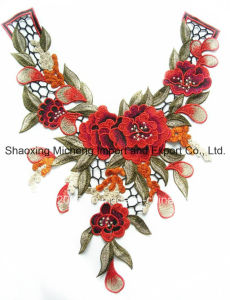 100% Polyester Multicolor Lace Flower Collar Sewing on Apparels pictures & photos