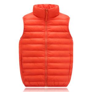 Uniq Fashion New Design Cute Wholesale Children Winter Warm Down Jacket Down Vest with High Quality 604 pictures & photos