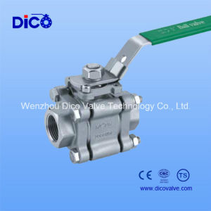 2000wog High Pressure 3 Pieces Thread Ball Valve pictures & photos