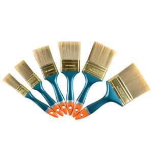 High Quality Plastic Blue Handle Golden End Paint Brush pictures & photos